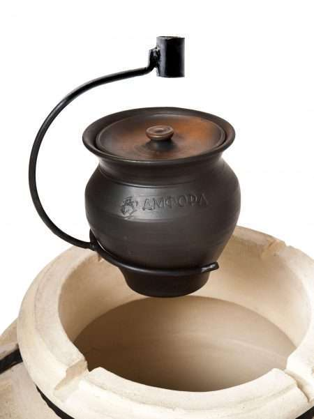 Ceramic Pot with Fork